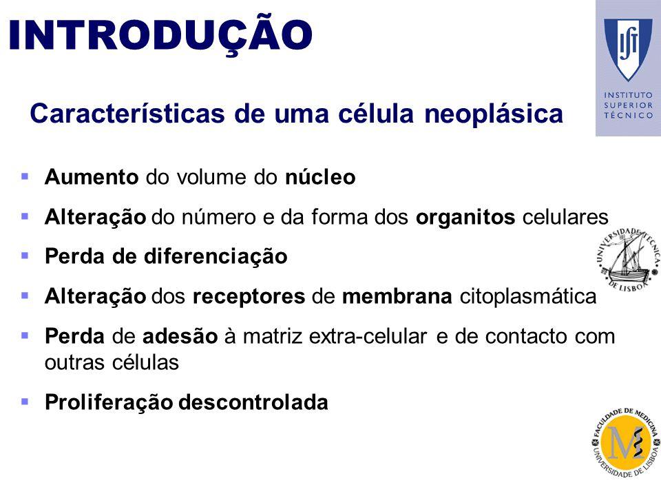 Características de uma célula neoplásica