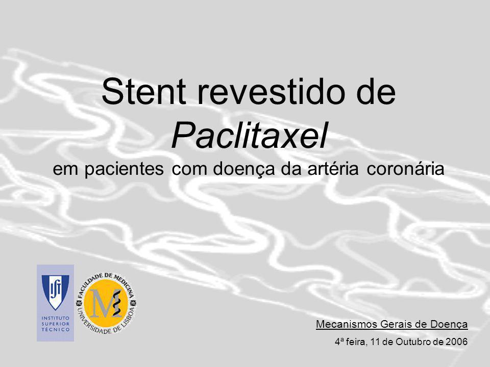 Stent revestido de Paclitaxel em pacientes com doença da artéria coronária