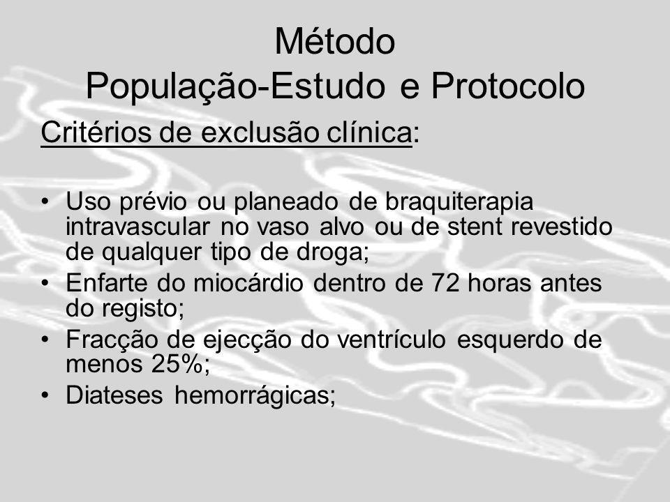 Método População-Estudo e Protocolo