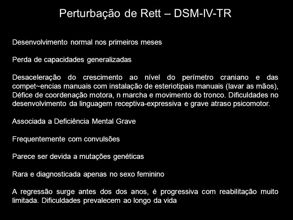 Perturbação de Rett – DSM-IV-TR