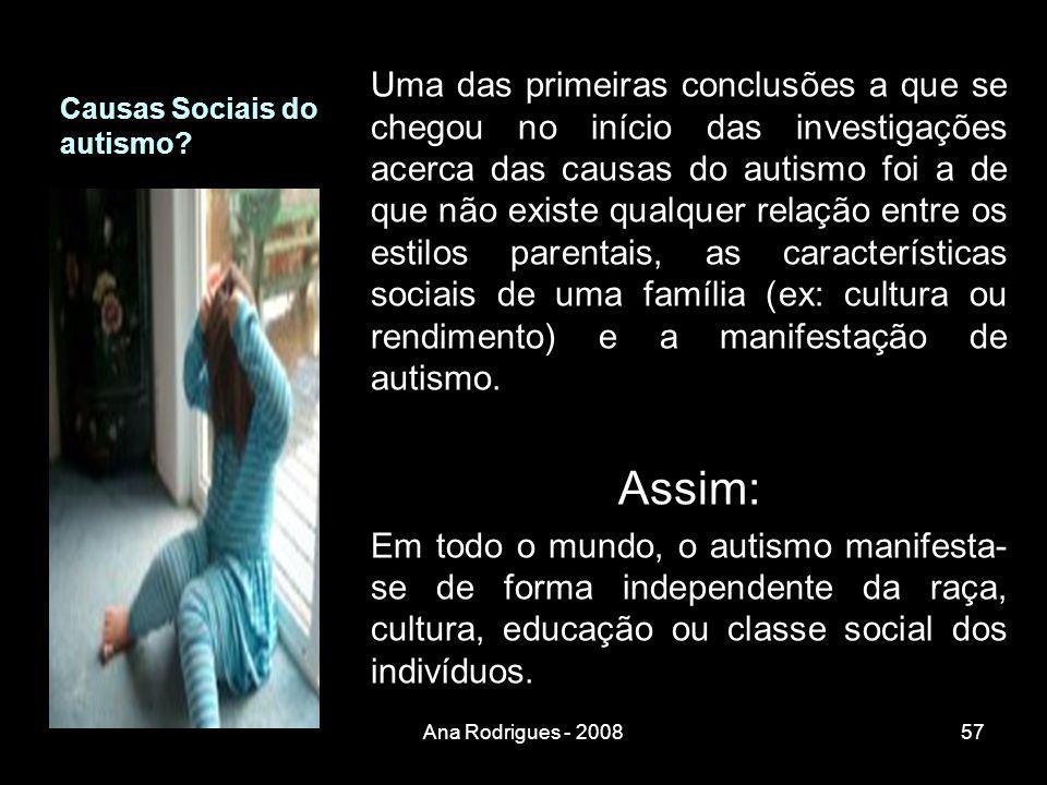 Causas Sociais do autismo