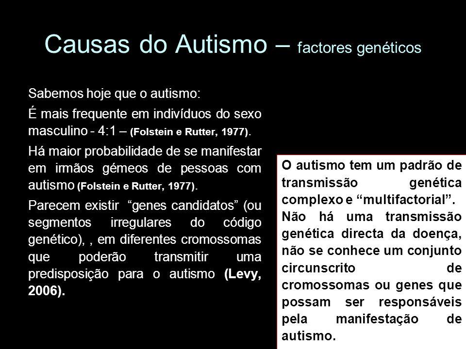 Causas do Autismo – factores genéticos