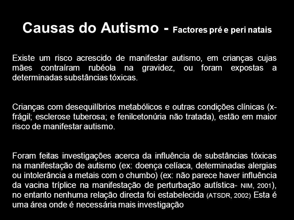 Causas do Autismo - Factores pré e peri natais