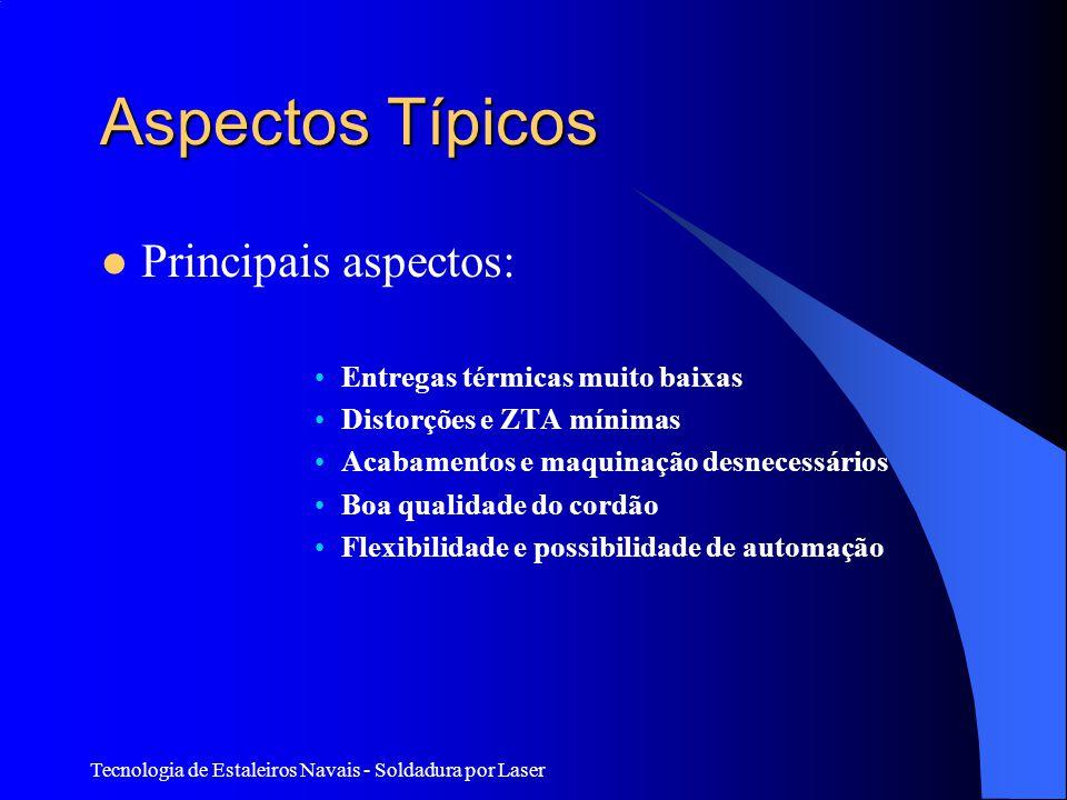 Aspectos Típicos Principais aspectos: Entregas térmicas muito baixas