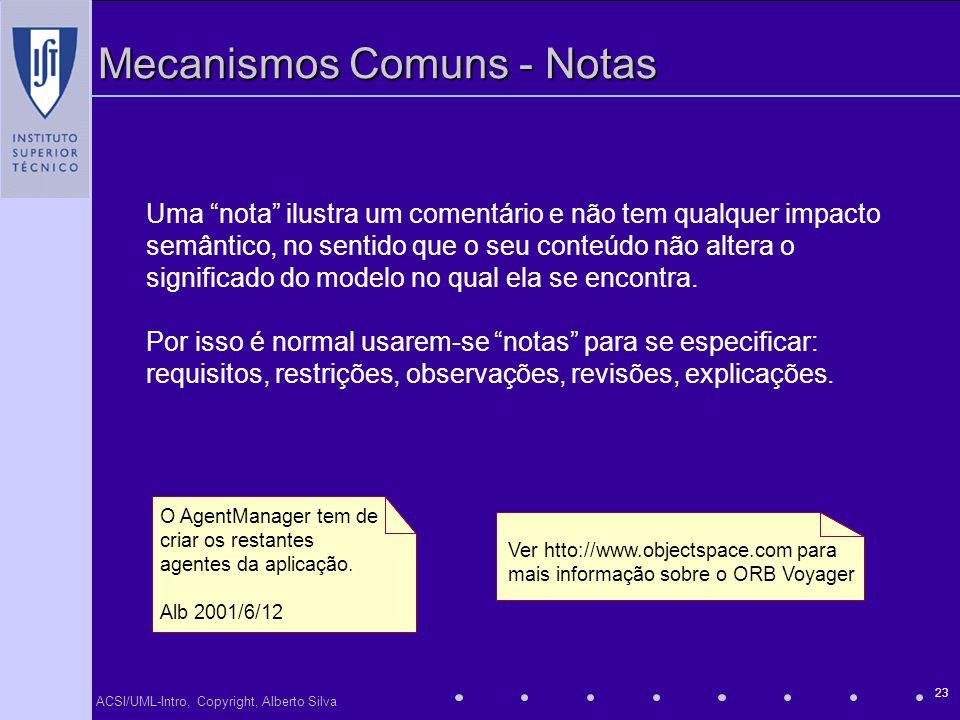 Mecanismos Comuns - Notas