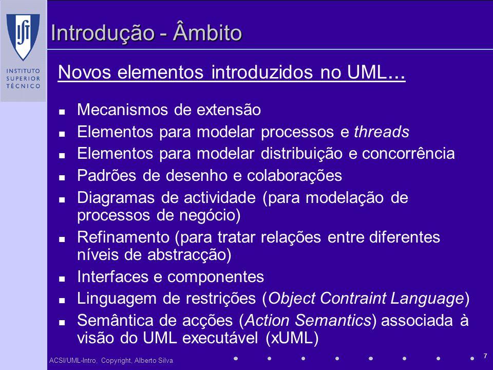 Novos elementos introduzidos no UML...