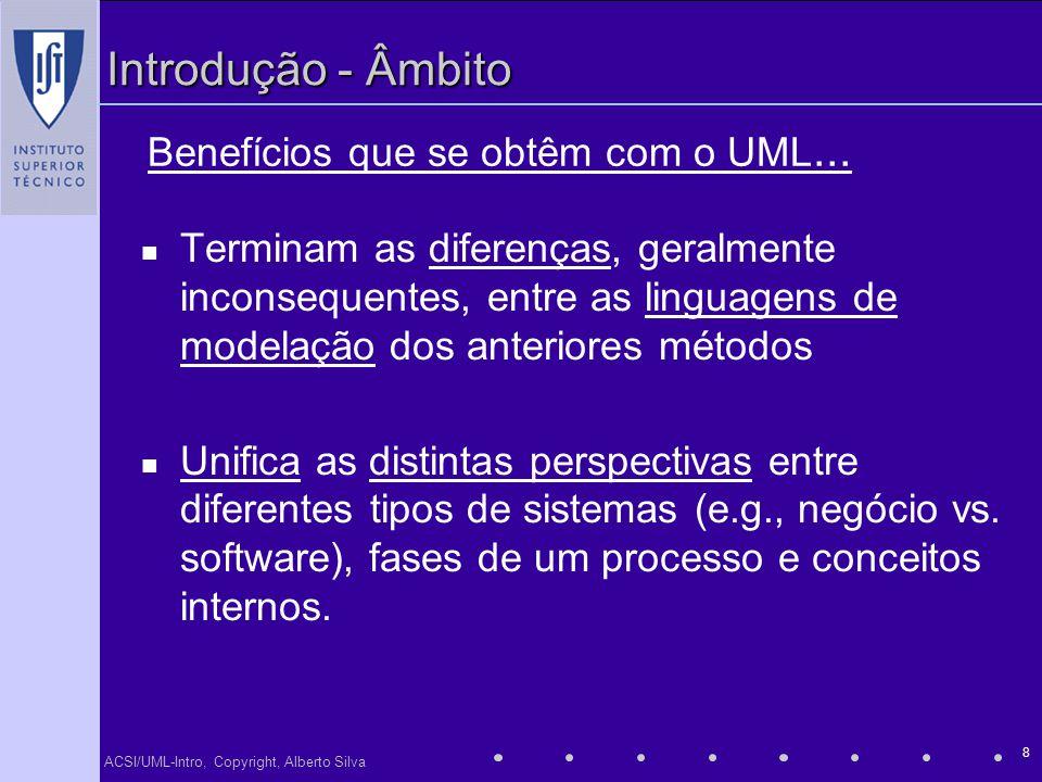 Benefícios que se obtêm com o UML...