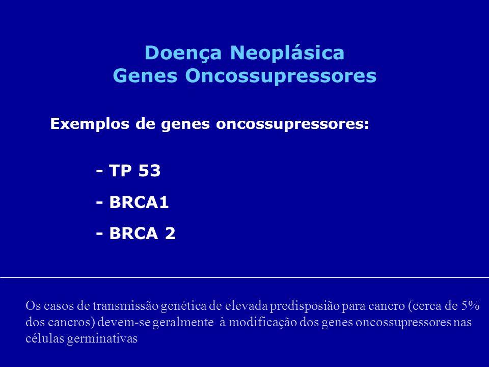 Doença Neoplásica Genes Oncossupressores