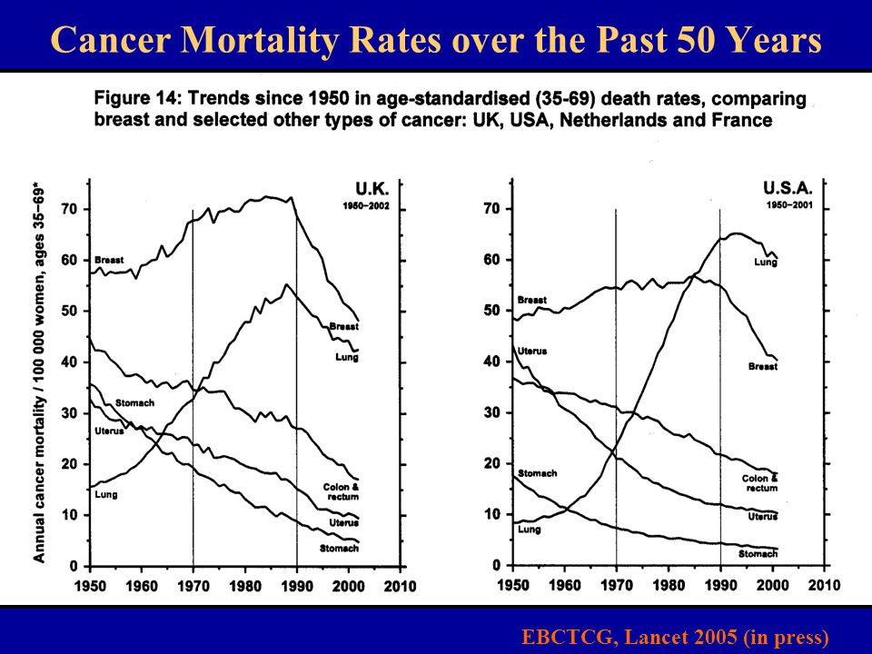 Cancer Mortality Rates over the Past 50 Years