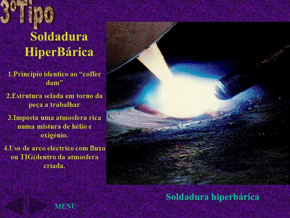 3ºTipo Soldadura HiperBárica Soldadura hiperbárica