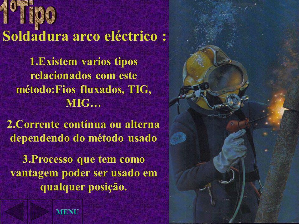 Soldadura arco eléctrico :