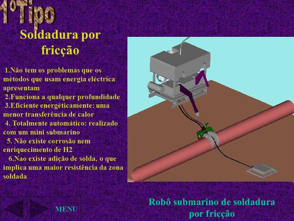 Robô submarino de soldadura por fricção