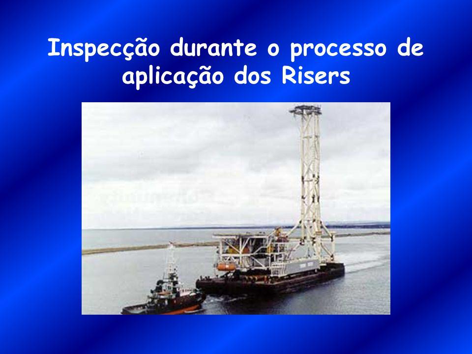 Inspecção durante o processo de aplicação dos Risers