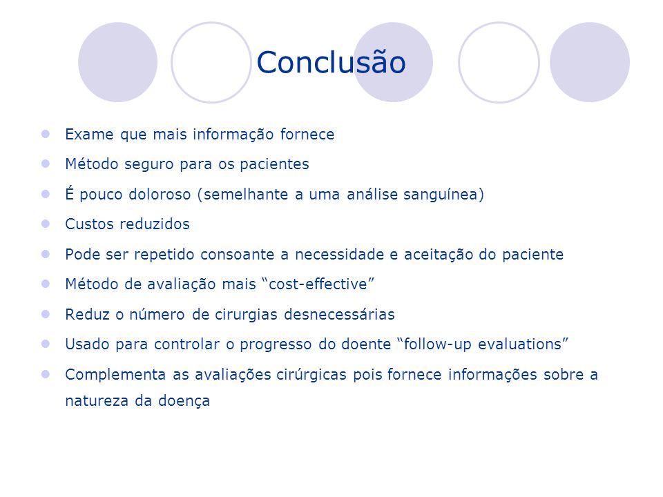 Conclusão Exame que mais informação fornece