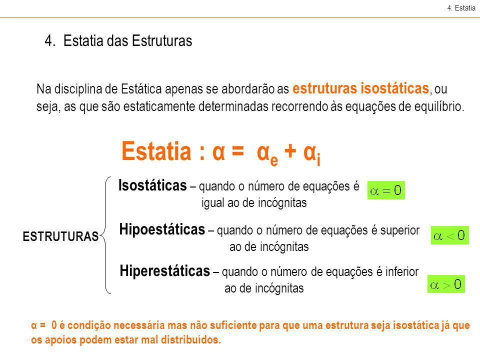 Isostáticas – quando o número de equações é