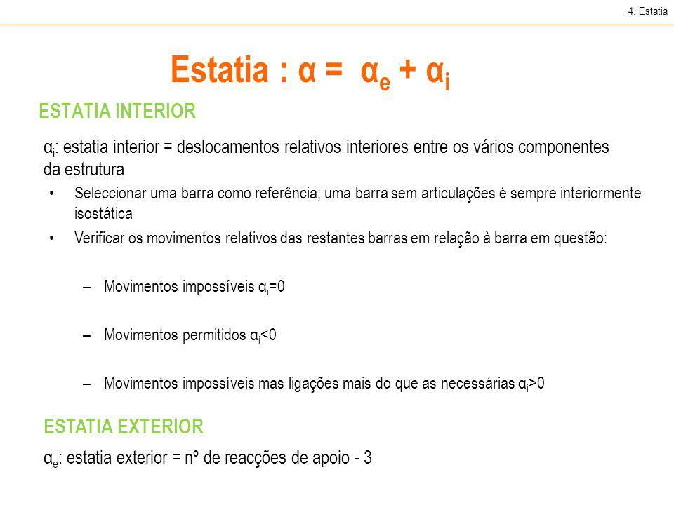 Estatia : α = αe + αi ESTATIA INTERIOR ESTATIA EXTERIOR