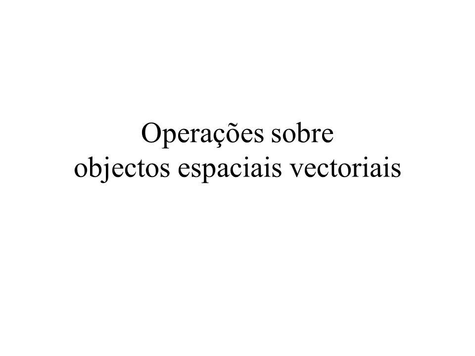 Operações sobre objectos espaciais vectoriais
