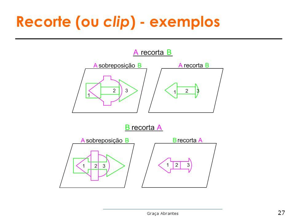 Recorte (ou clip) - exemplos