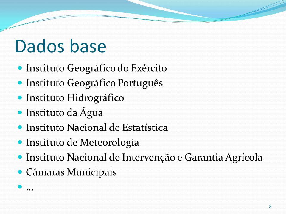 Dados base Instituto Geográfico do Exército