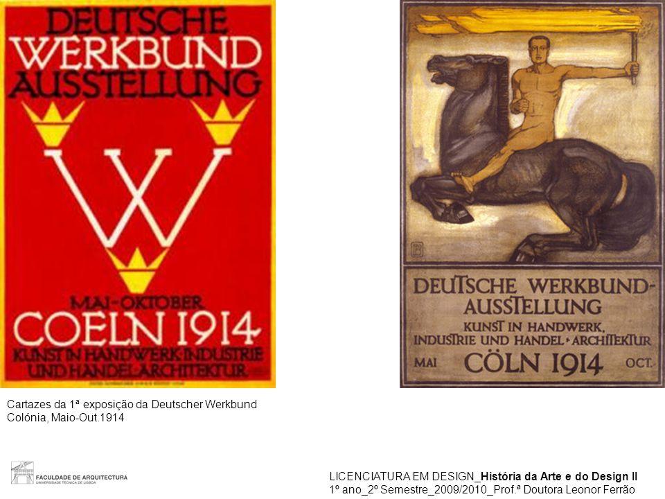 Cartazes da 1ª exposição da Deutscher Werkbund