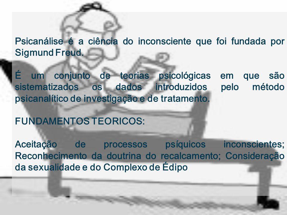 Psicanálise é a ciência do inconsciente que foi fundada por Sigmund Freud.