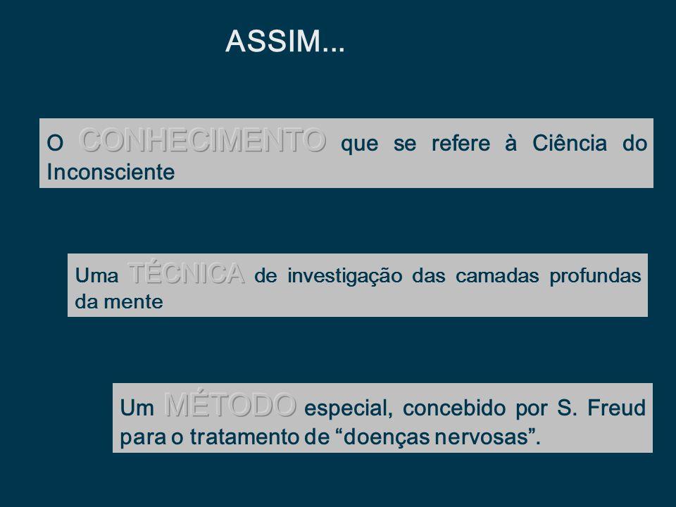 ASSIM... O CONHECIMENTO que se refere à Ciência do Inconsciente