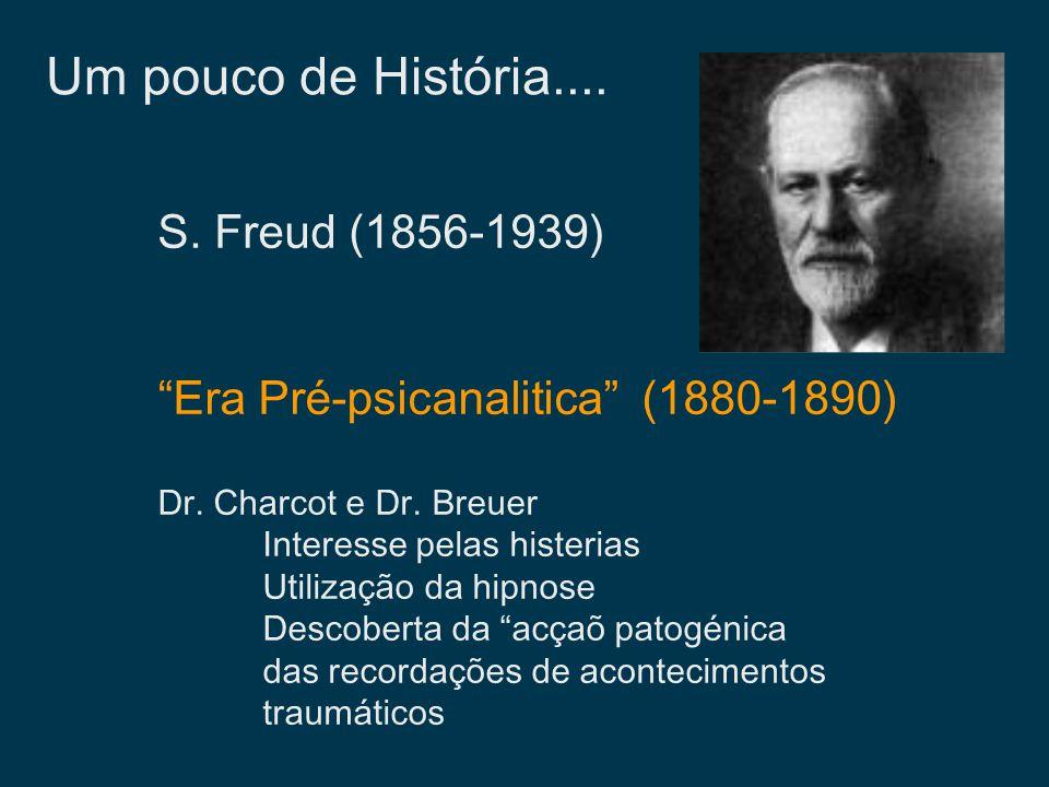 Um pouco de História.... S. Freud (1856-1939)