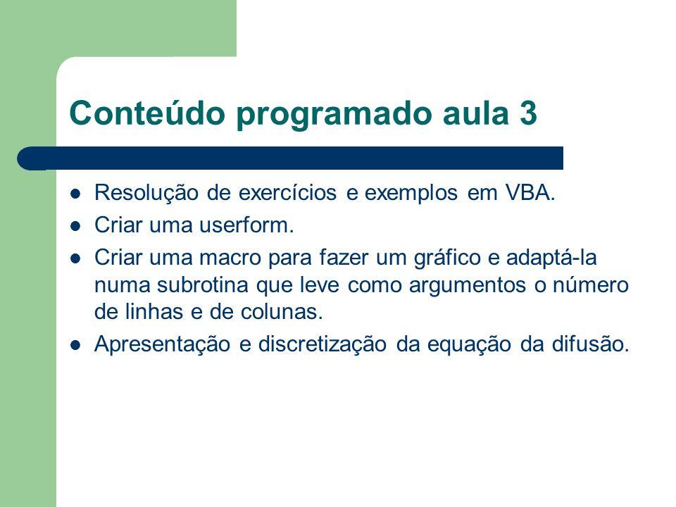 Conteúdo programado aula 3