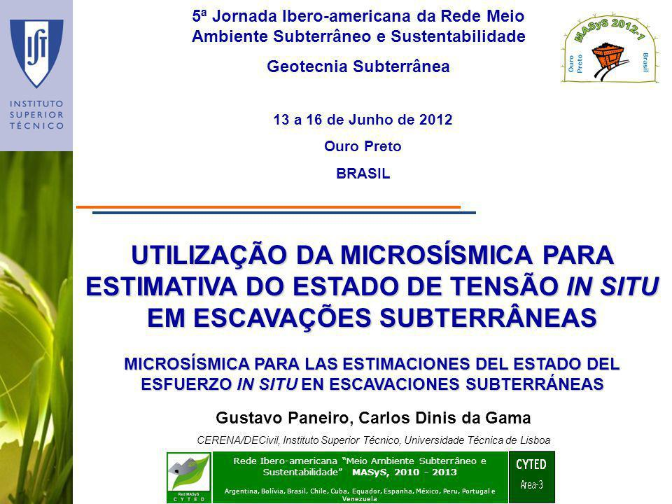 Geotecnia Subterrânea Gustavo Paneiro, Carlos Dinis da Gama