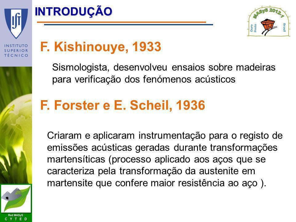 F. Kishinouye, 1933 F. Forster e E. Scheil, 1936 introdução