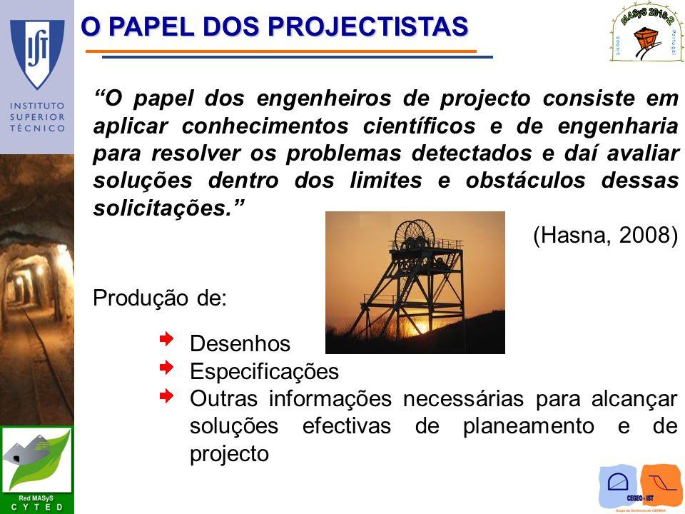 O PAPEL DOS PROJECTISTAS