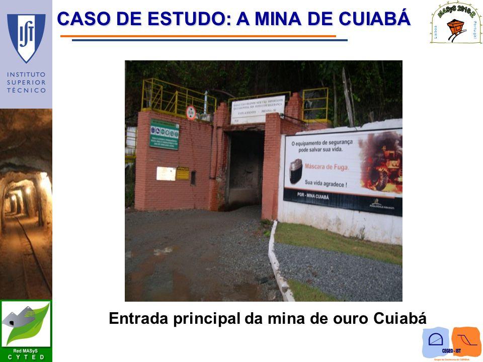 Entrada principal da mina de ouro Cuiabá