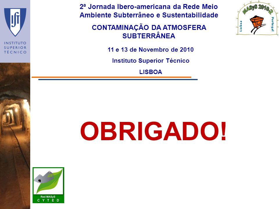 CONTAMINAÇÃO DA ATMOSFERA SUBTERRÂNEA Instituto Superior Técnico