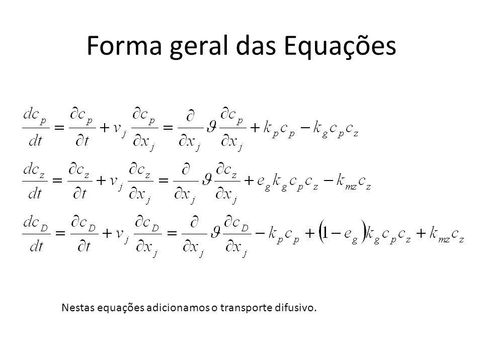 Forma geral das Equações