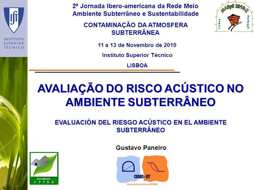 AVALIAÇÃO DO RISCO ACÚSTICO NO AMBIENTE SUBTERRÂNEO
