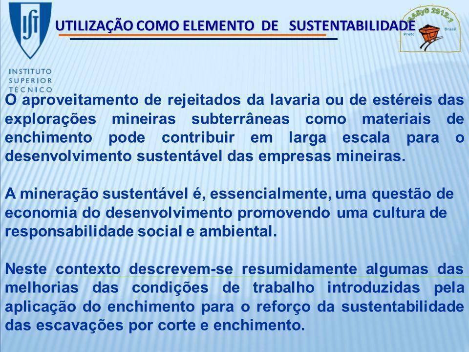 UTILIZAÇÃO COMO ELEMENTO DE SUSTENTABILIDADE