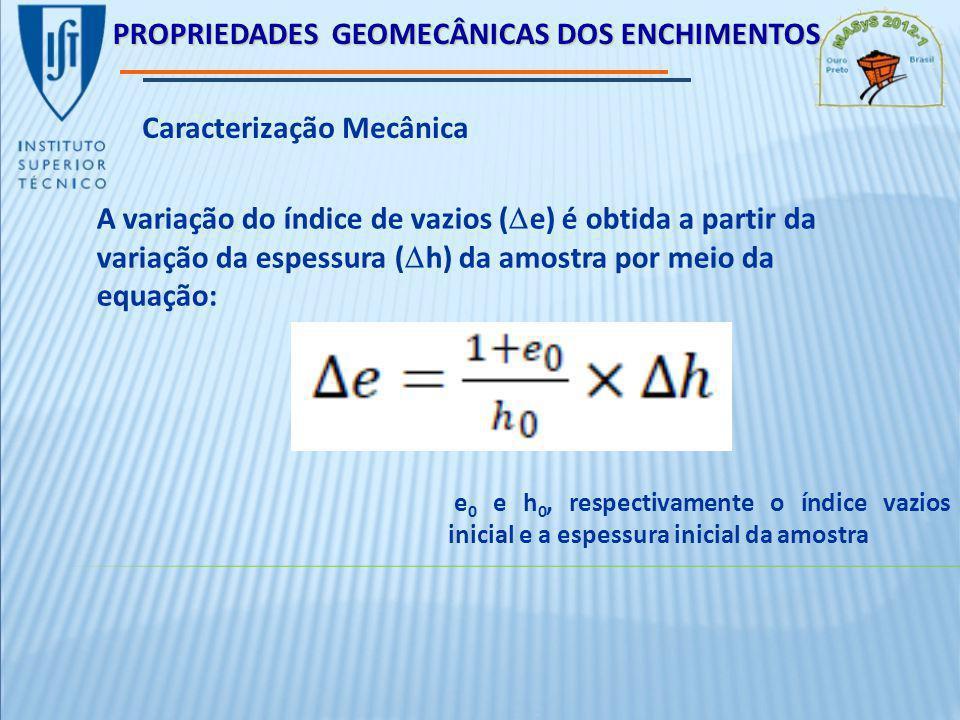 PROPRIEDADES GEOMECÂNICAS DOS ENCHIMENTOS