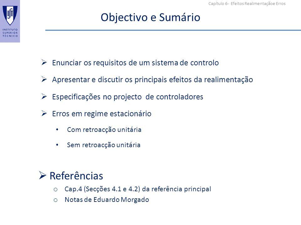 Objectivo e Sumário Referências