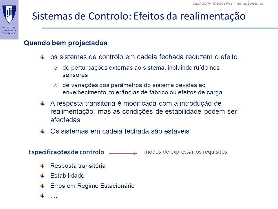 Sistemas de Controlo: Efeitos da realimentação