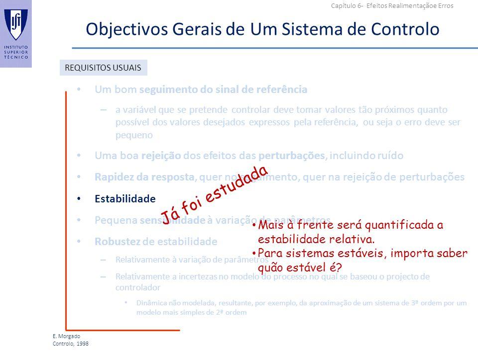 Objectivos Gerais de Um Sistema de Controlo