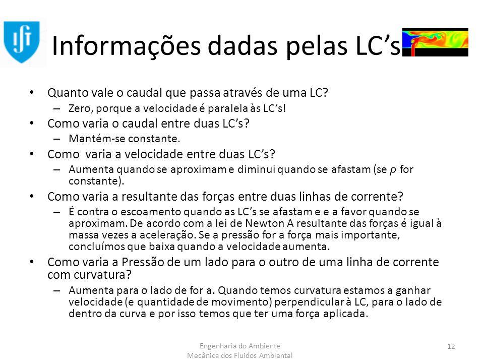 Informações dadas pelas LC's