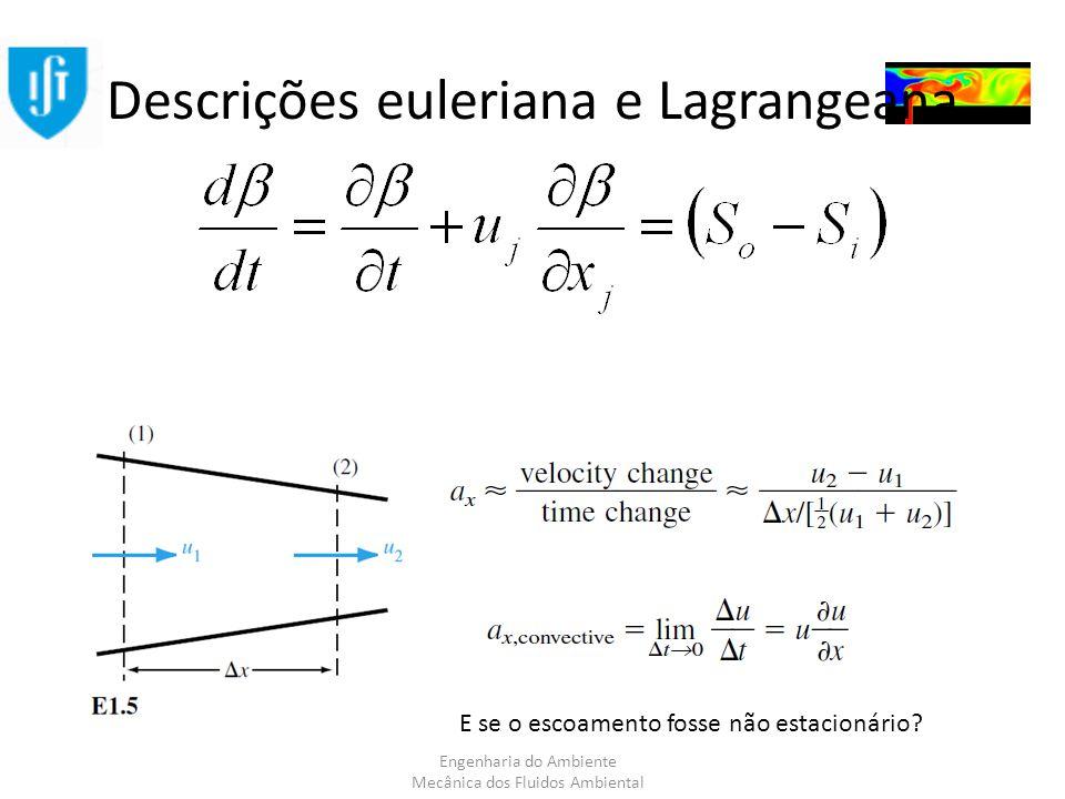 Descrições euleriana e Lagrangeana