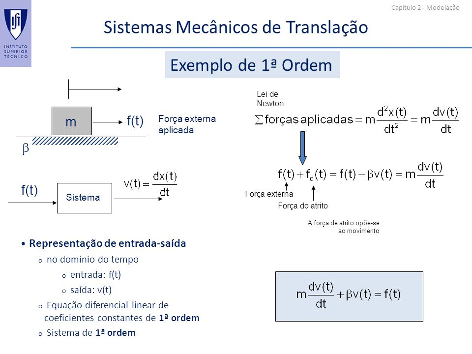 Sistemas Mecânicos de Translação