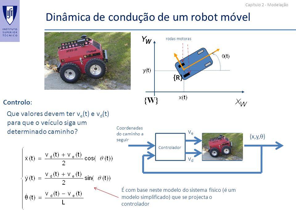 Dinâmica de condução de um robot móvel