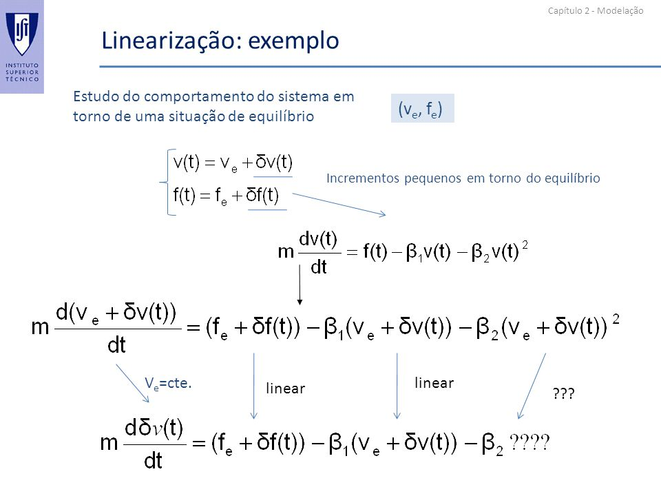 Linearização: exemplo