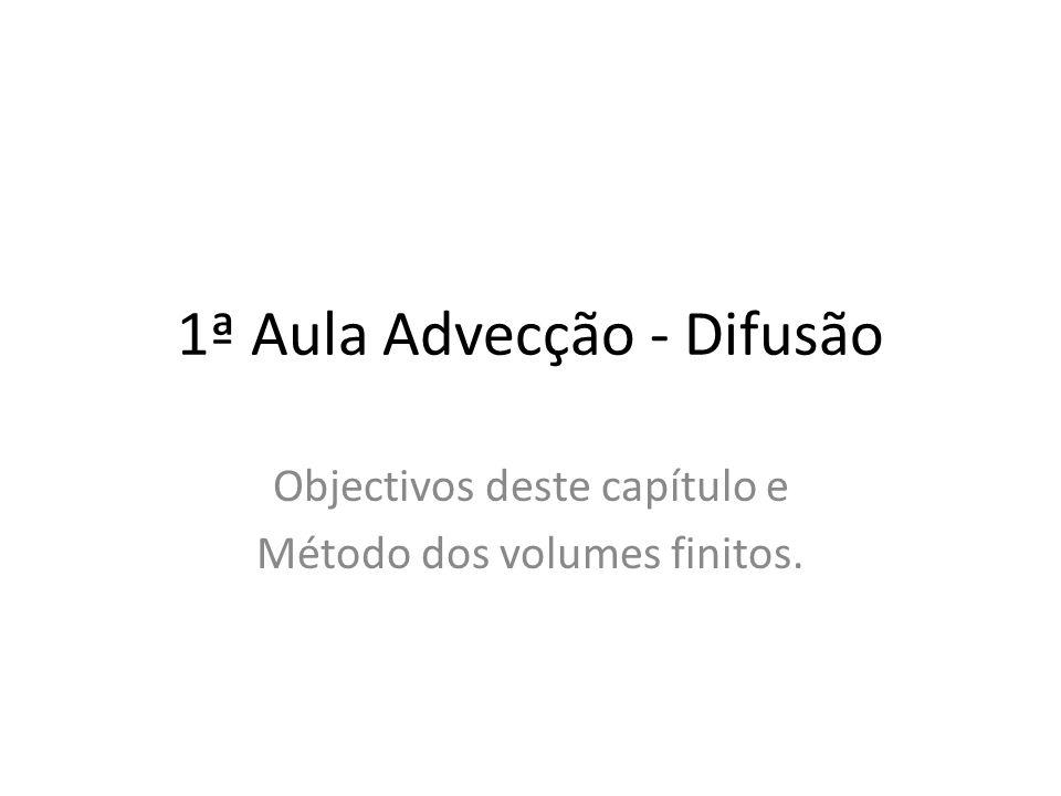1ª Aula Advecção - Difusão