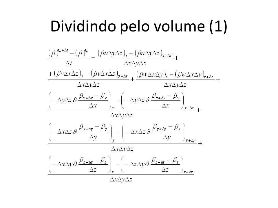 Dividindo pelo volume (1)