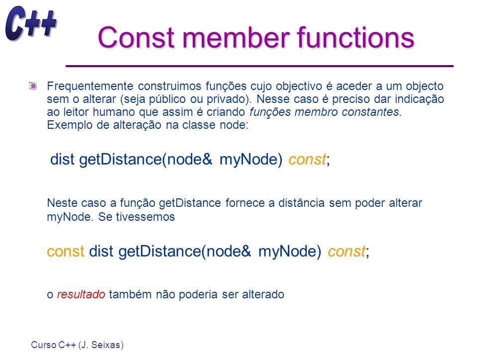 Const member functions
