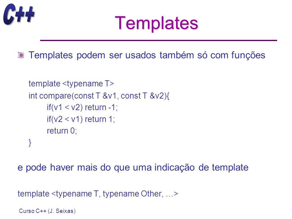 Templates Templates podem ser usados também só com funções