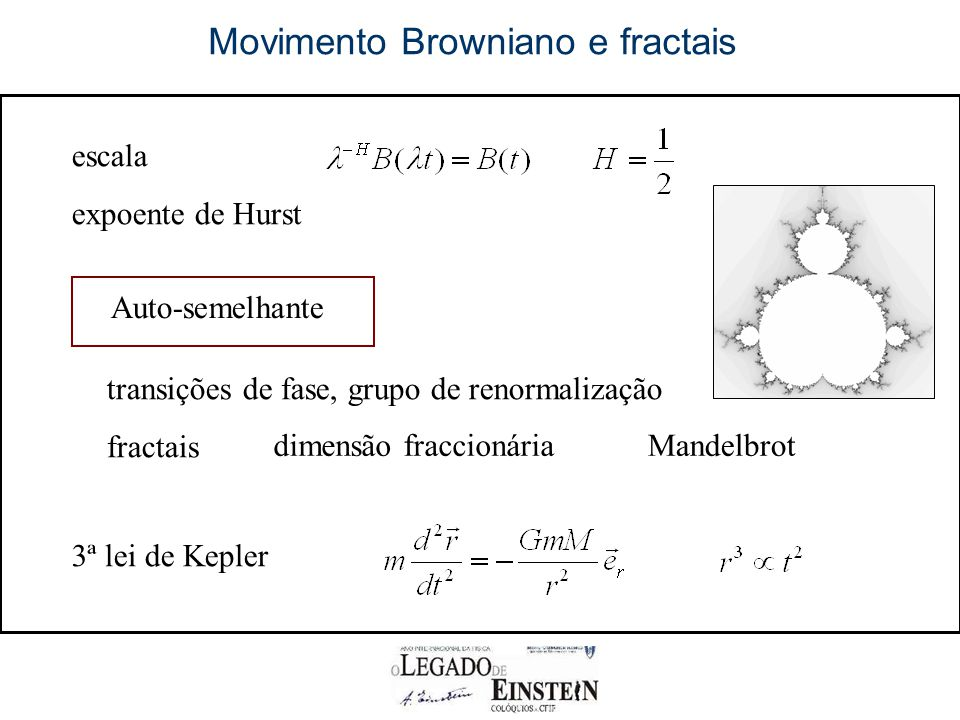 Movimento Browniano e fractais